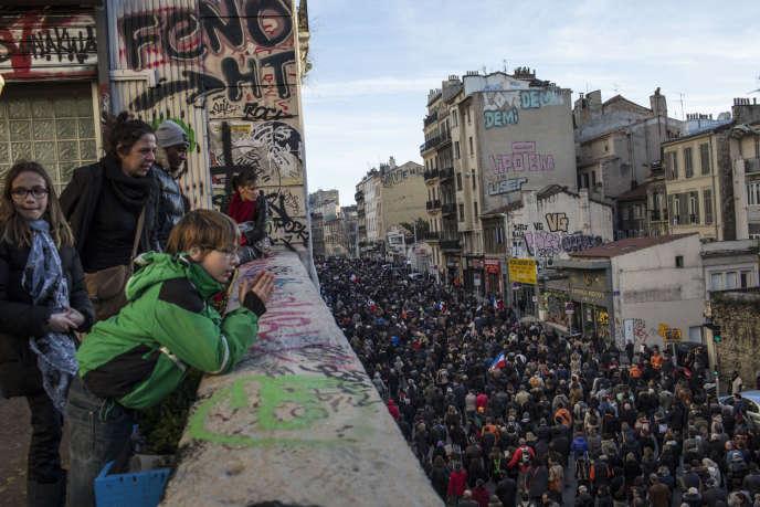 Manifestation à Marseille, le 11 janvier.