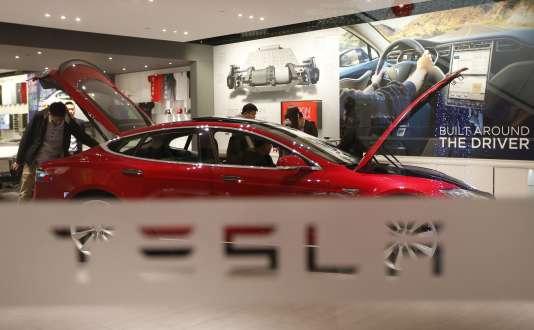 Un Model S P85 de Tesla à Pékin, en Chine.