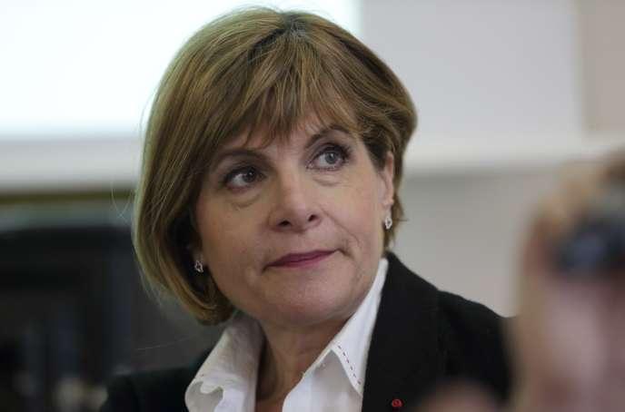 Anne Lauvergeon, lors d'une conférence de presse à Paris le 11 février.