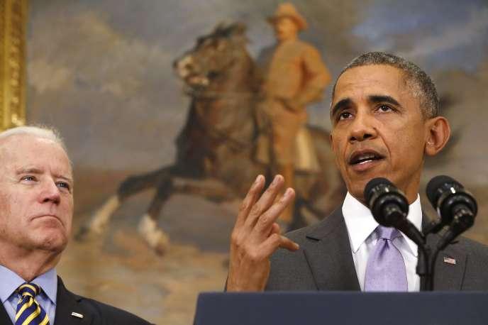 Barack Obama à la Maison Blanche mercredi 11 février
