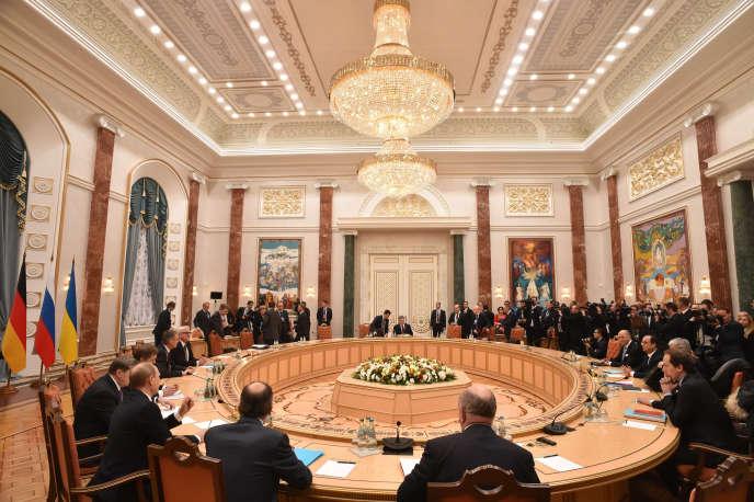 Les discussions sur un accord de paix en Ukraine se sont tenues à Minsk, en Biélorussie.