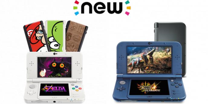 Les deux tailles différentes de New Nintendo 3DS.
