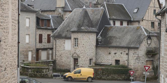 Le village de Treignac, en Corrèze, en février.