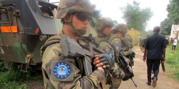 Des militaires européens à Bangui, le 19 janvier 2015.