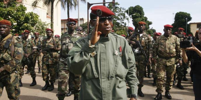 L'ancien président guinéen Moussa Dadis Camara, en octobre 2009, à Conakry.