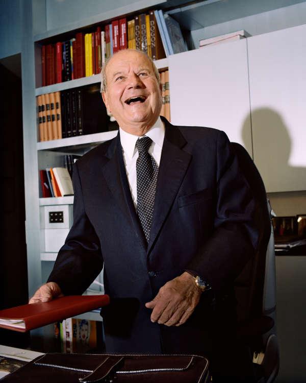 Marc Ladreit de Lacharrière, le 3 février 2015 dans son bureau à Paris.