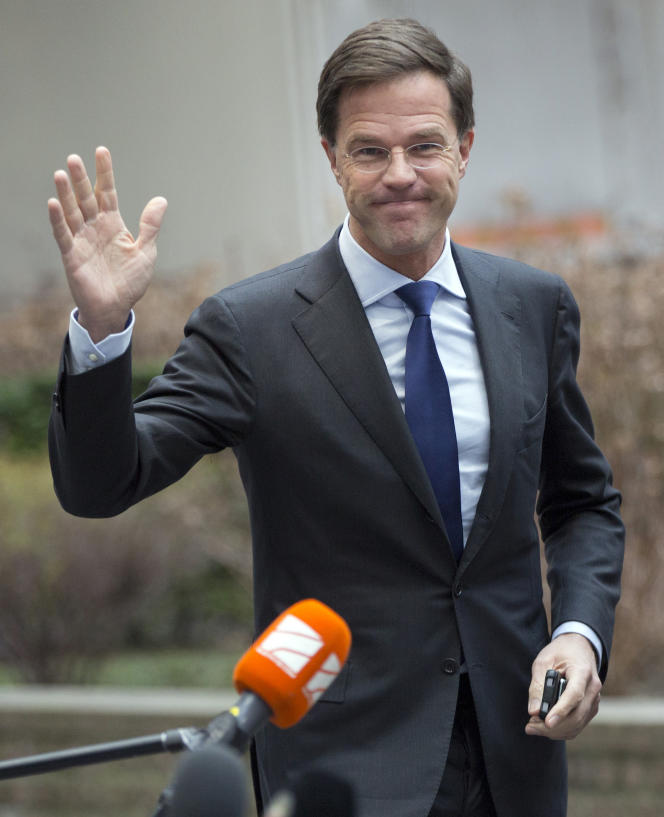 Le premier ministre des Pays-Bas, Mark Rutte, lors du sommet européen du  12 février à Bruxelles.