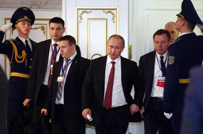 Vladimir Poutine, à Minsk, le 12 février.