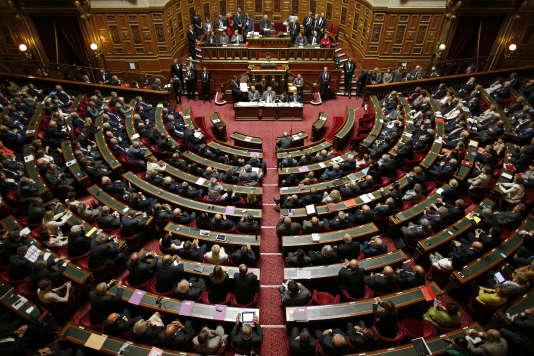 L'hémicycle du Sénat, le 1er octobre 2014.