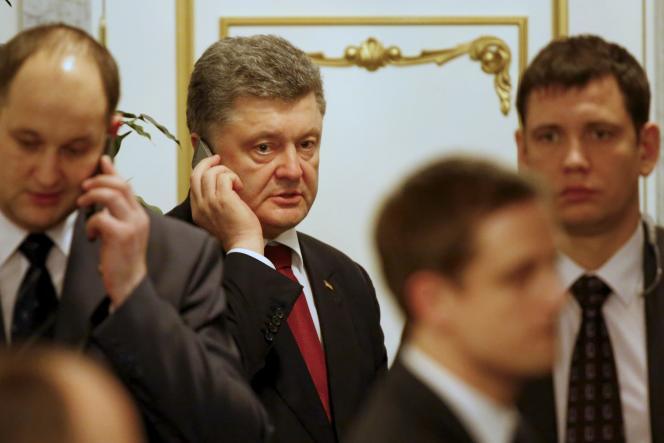 Le président ukrainien Petro Porochenko, à Minsk, le 12 février.