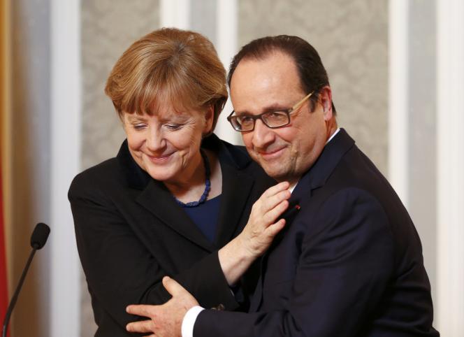 Angela Merkel et François Hollande, à Minsk, le 12 février.