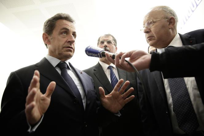 Nicolas Sarkozy et Dalil Boubakeur, président du CFCM, le 15 janvier, à Paris.