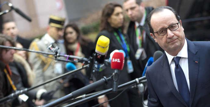 Francois Hollande, le 12 février