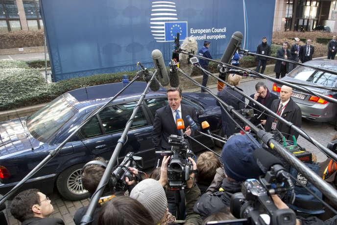 David Cameron, le premier ministre britannique, le 12 février, à Bruxelles.