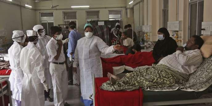A l'hôpital Gandhi, à Hyderabad, le 21 janvier.