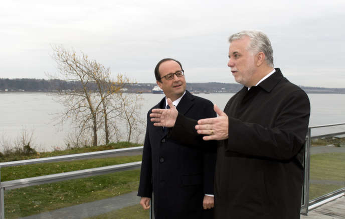 François Hollande et Philippe Couillard, le 4 novembre à Québec.