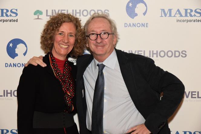 Victoria Mars et Franck Riboud au Quai d'Orsay, 4 mars 2015