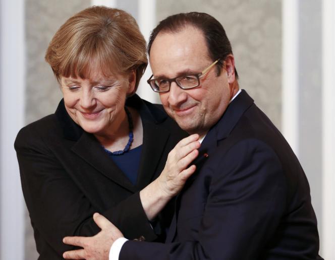 La chancelière allemande, Angela Merkel et le président français, François Hollande.