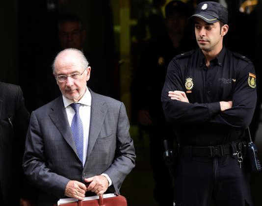 Rodrigo Rato, l'ancien patron de Bankia, en octobre 2014.