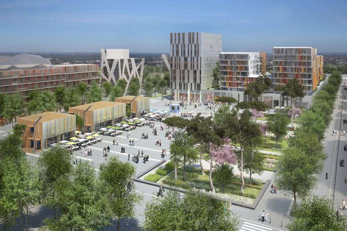 Le projet d'aménagement de la place Carré de la Maourine, à Toulouse.