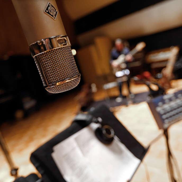 Un studio d'enregistrement à  Nashville, Tennessee, Etats-Unis.