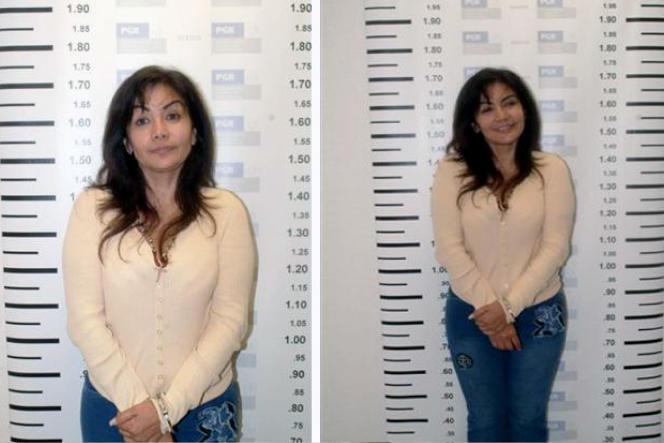 Sandra Avila Beltran, lors de son arrestation, le 28 septembre 2007, à Mexico.
