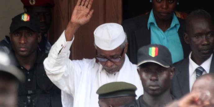 L'ancien président tchadien Hissène Habré, le 2 juillet 2013 à Dakar.