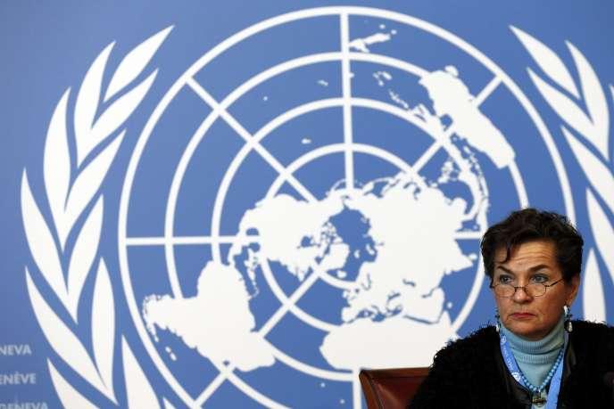 Christiana Figueres,  secrétaire exécutive de la Convention-cadre des Nations unies sur les changements climatiques (CCNUCC), le 13 février à Genève.