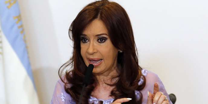 La présidente de l'Argentine, Cristina Kirchner, à Buenos Aires le 30 janvier.