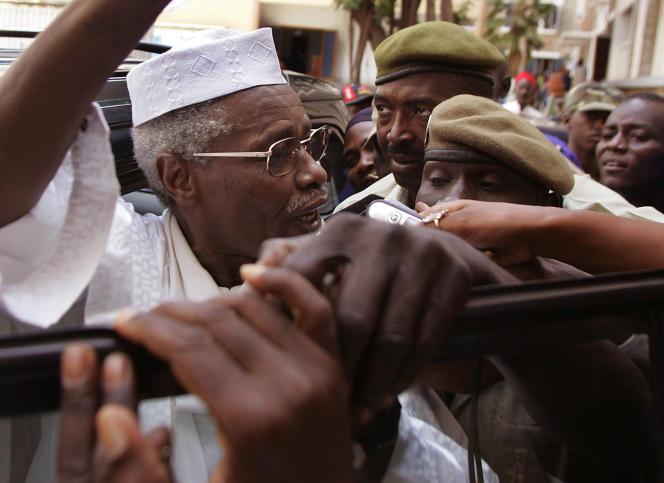 L'ancien dictateur tchadien Hissène Habré, en 2005 à Dakar.