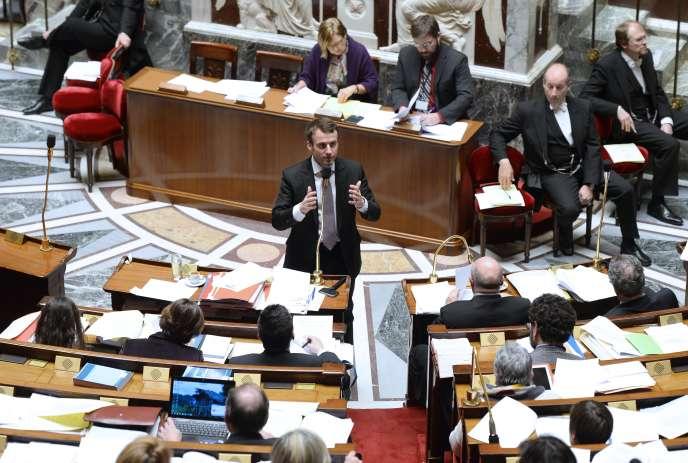 Emmanuel Macron, ministre de l'économie, à l'Assemblée nationale, le 14février.