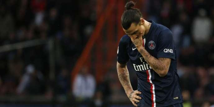 Auteur de l'ouverture du score, le buteur parisien Zlatan Ibrahimovic n'aura pu empêcher le match nul de son club contre Caen (2-2).