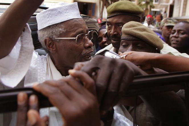 Hissène Habré, le 25 novembre 2005, à Dakar.