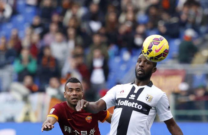 Le joueur de Parme Silvestre Varela face à l'AS Rome le 15 février.
