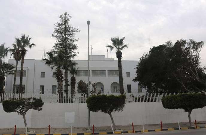 L'ambassade d'Italie à Tripoli, le 15 février.