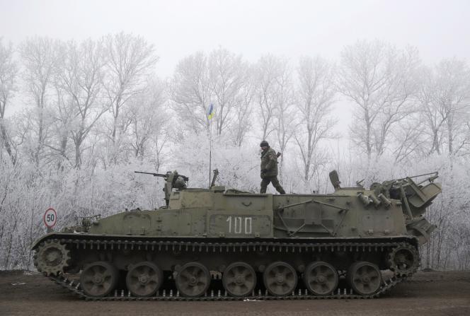 A Debaltsevo, dans l'est de l'Ukraine, le 15 février.