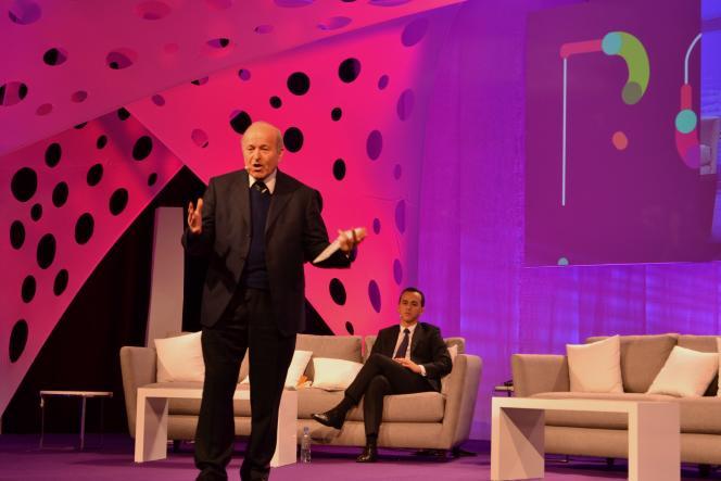 Isaad Rebrab, PDG du groupe Cevital, lors de la conférence Fikra qui s'est tenue les 14 et 15 février à Alger.
