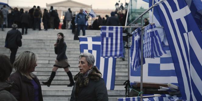 La place Syntagma à Athènes, le 16 février.