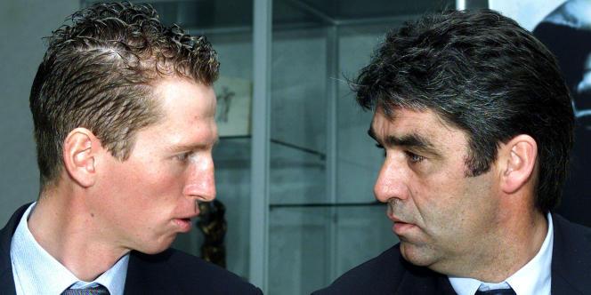Claude Criquielion (à droite) en 2001, à l'âge de 44ans.