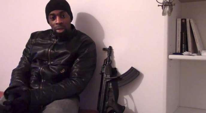 Extrait de la vidéo d'Amedy Coulibaly diffusée le 11 janvier.