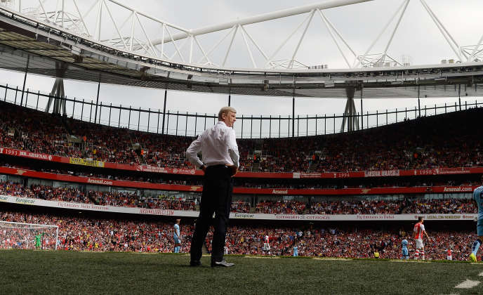 Arsène Wenger, lors du match de Premier League entre Arsenal et Manchester City, à l'Emirates Stadium de Londres, le 13 septembre 2014.