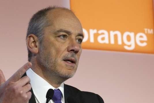 Le PDG d'Orange, Stéphane Richard, en février 2015.
