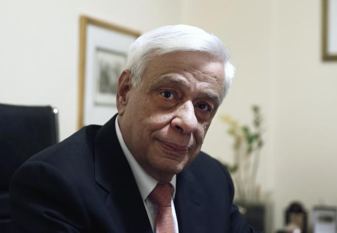 Prokopis Pavlopoulos, le 17 février à Athènes.