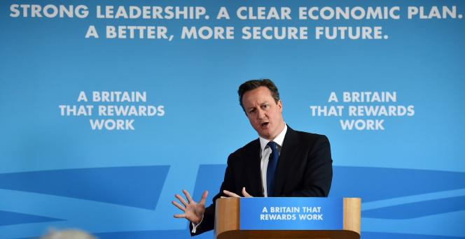 David Cameron en campagne dans le Sussex, le 17 février.