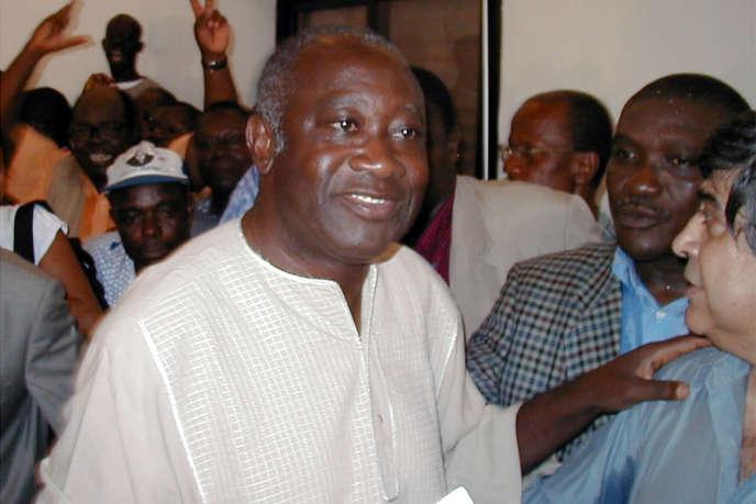 Laurent Gbagbo, le 24 octobre 2000, lors de la campagne présidentielle.