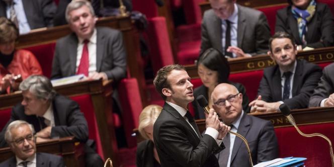 Emmanuel Macron, à l'Assemblée nationale, le 17 février 2014.