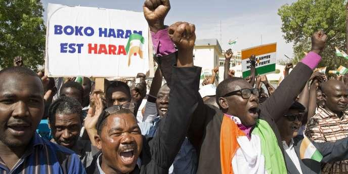 Marche contre Boko Haram, à Niamey, au Niger, le 17 février.