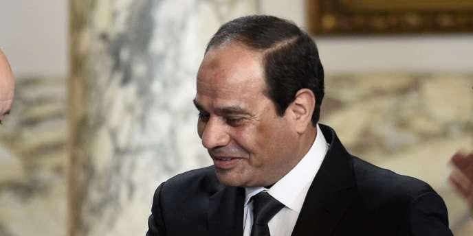 Le président égyptien, Abdel Fattah Al-Sissi, le 16 février au Caire.