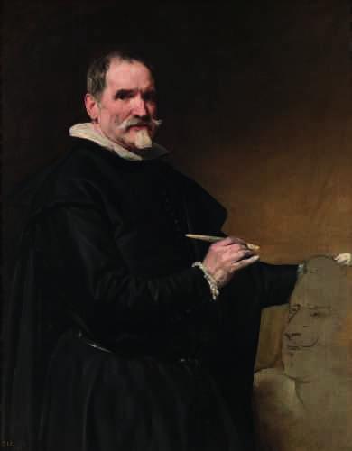 Ici, le mouvement de l'artiste est suspendu, à l'instar du pinceau du peintre dans « Les Ménines » vingt ans plus tard. Le regard libre et précis contraste avec la forme encore indécise du buste du roi que retient une main à peine ébauchée.