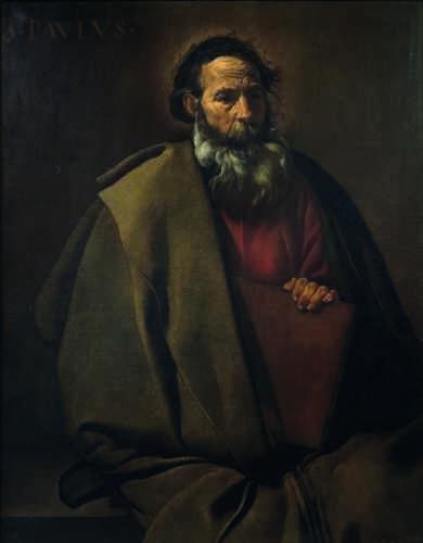 L'apôtre n'est pas représenté ici avec son attribut traditionnel, l'épée, qui accompagne généralement le livre. La mise en page est directe, le naturalisme franc, la palette limitée et terreuse.